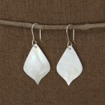 Earrings - Moonlit Leaf Mother of Pearl Shell