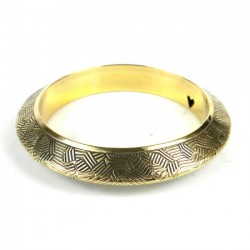 Bangle - Geometric Goldtone or Silvertone